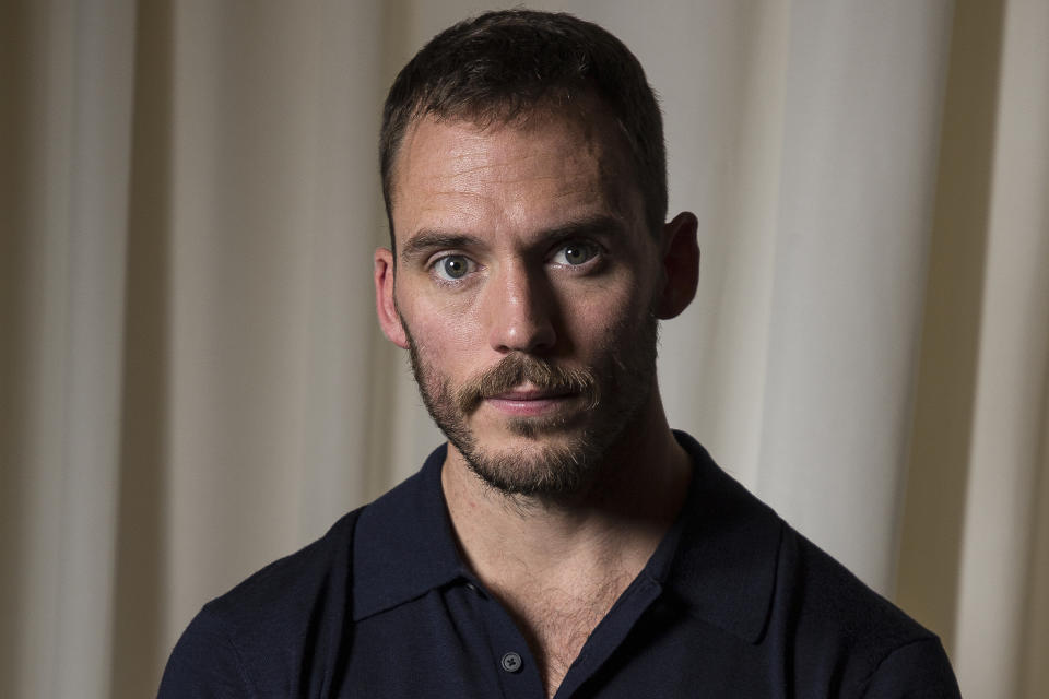 Actor Sam Claflin poses for portraits for the film The Nightingale, at the 75th edition of the Venice Film Festival in Venice, Italy, Thursday, Sept. 6, 2018. (Photo by Joel C Ryan/Invision/AP)