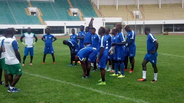 The home based Leone stars will face Salisu Yusuf's men on Monday evening and the defender is hopeful they can stage an upset in the regional play-off