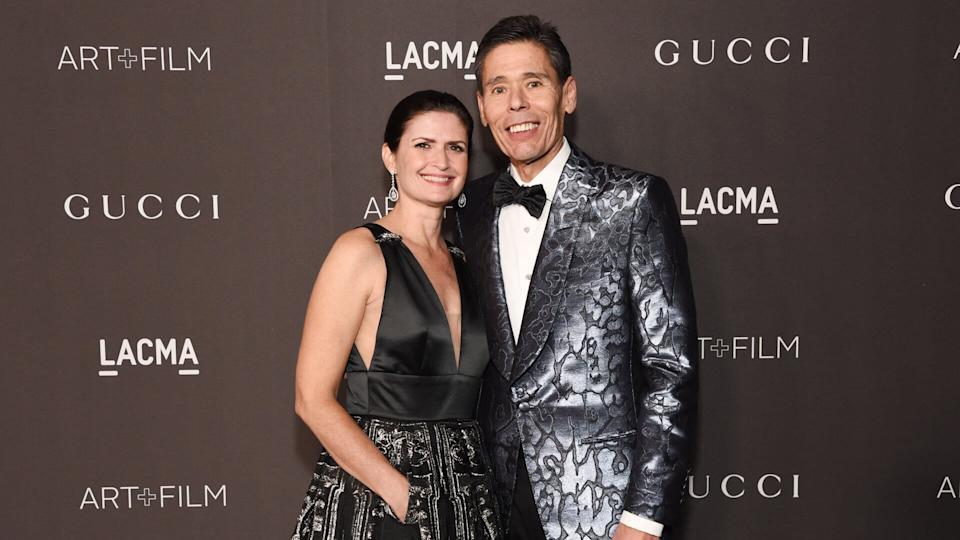 LOS ANGELES, CALIFORNIA - NOVEMBER 02: (L-R) Gail Groenwoldt and Jeffery Yabuki attend the 2019 LACMA Art + Film Gala Presented By Gucci at LACMA on November 02, 2019 in Los Angeles, California.