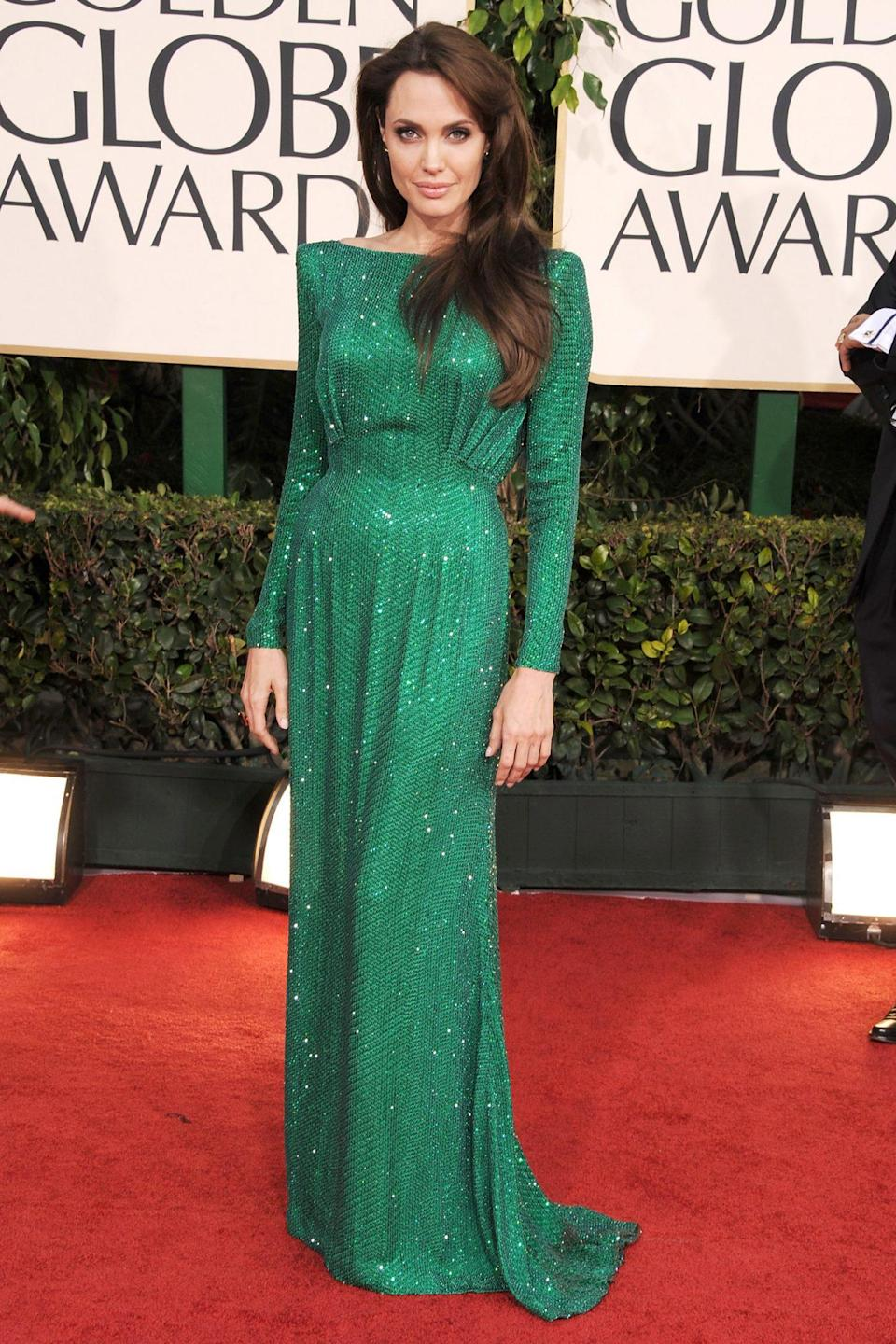 <p>Emerald appeared to be the hue of that year, as Angelina Jolie also chose the stunning shade. </p>
