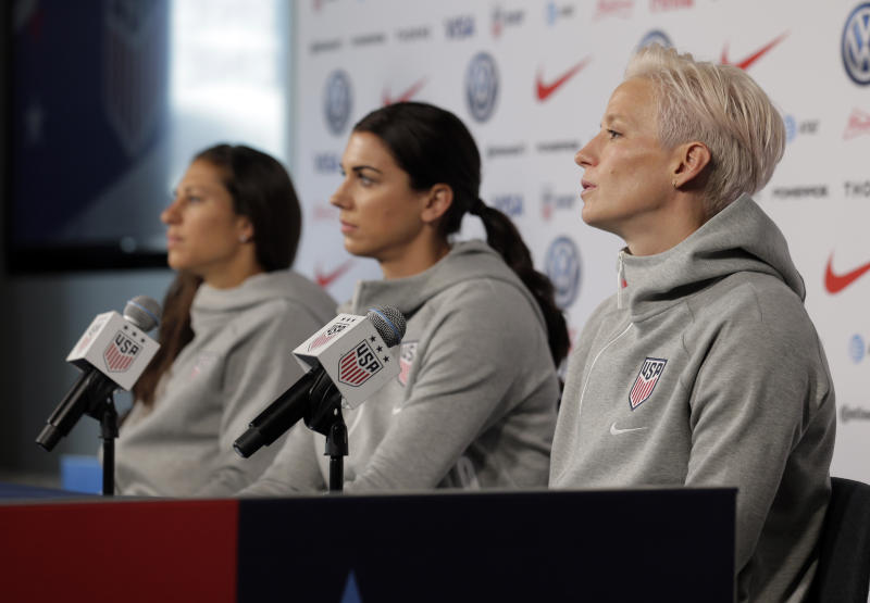 The USWNT lost a big part of its equal pay case on Friday. Here are some of the questions we still have. (AP Photo/Seth Wenig)