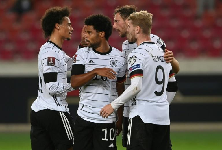 Serge Gnabry (2nd L) scored a double as Germany found their groove against Armenia (AFP/CHRISTOF STACHE)