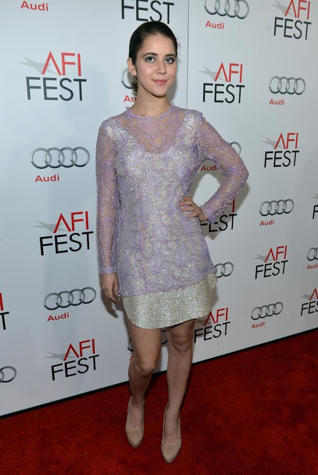 """HOLLYWOOD, CA - NOVEMBER 03:  Actress Tessa Ia arrives at the """"On The Road"""" premiere during the 2012 AFI Fest presented by Audi at Grauman's Chinese Theatre on November 3, 2012 in Hollywood, California.  (Photo by Alberto E. Rodriguez/Getty Images for AFI)"""