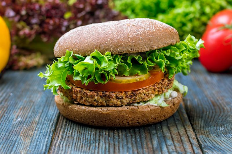 vegetarian Burger with a Patty made of buckwheat