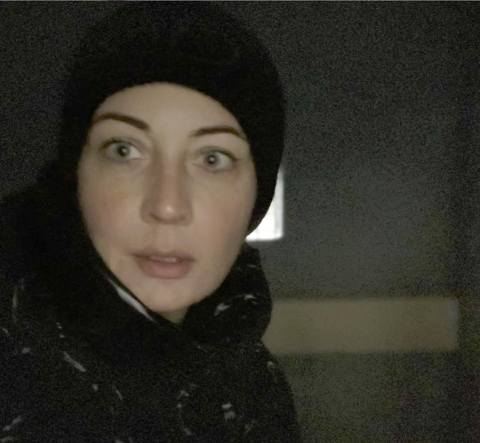 In this photo released by Yulia Navalny, wife of Russian opposition leader Alexei Navalny, in her Instagram account yulia_navalnaya, Yulia Navalnaya poses for a selfie inside a police bus after she was detained during a protest against the jailing of her husband in Moscow, Russia, Saturday, Jan. 23, 2021. Russian police arrested more than 3,400 people Saturday in nationwide protests demanding the release of Alexei Navalny, the Kremlin's most prominent foe, according to a group that counts political detentions. Yulia was among those arrested. (Yulia Navalny via AP)
