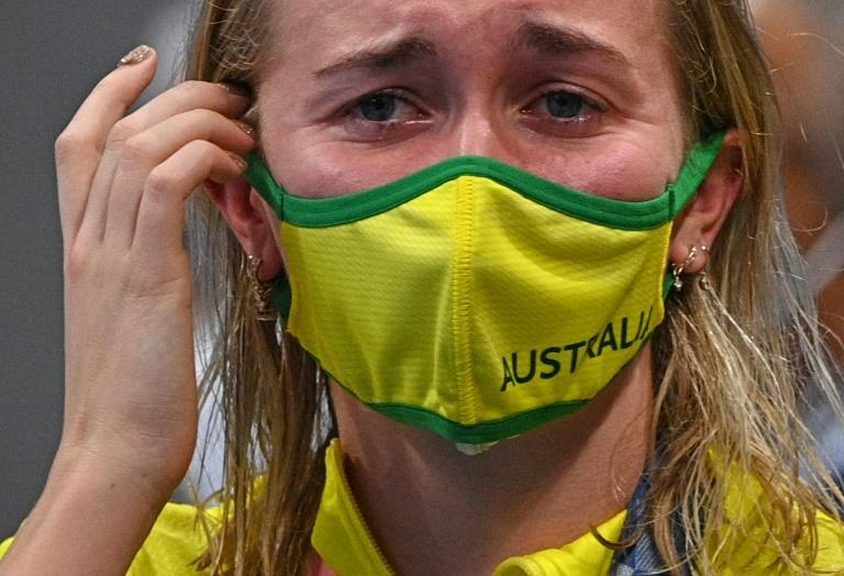 Titmus was emotional after the 200m freestyle medal ceremony