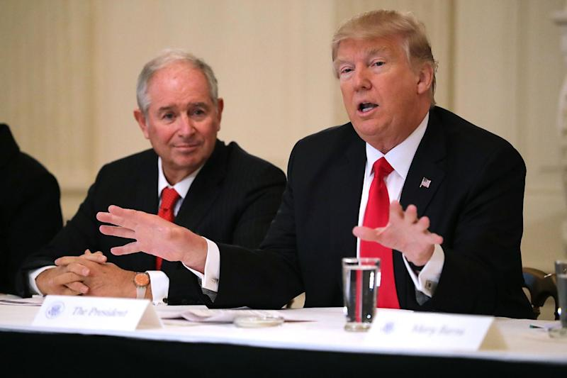 Stephen Schwarzman has advised Republican presidents including Donald Trump. (Getty Images)