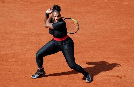 Tennis - French Open - Roland Garros, Paris, France - May 29, 2018 Serena Williams of the U.S in action during her first round match against Czech Republic's Kristyna Pliskova REUTERS/Christian Hartmann/Files