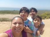 Michelle Rodriguez, 39, poses with her sons Javier Torres, 6, Johann Torres, 7, and Josue Torres 5, in San Juan Capistrano