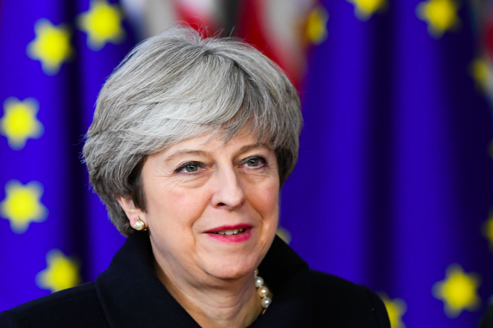 <em>Theresa May has ruled out membership of the single market or customs union after Brexit (Rex)</em>