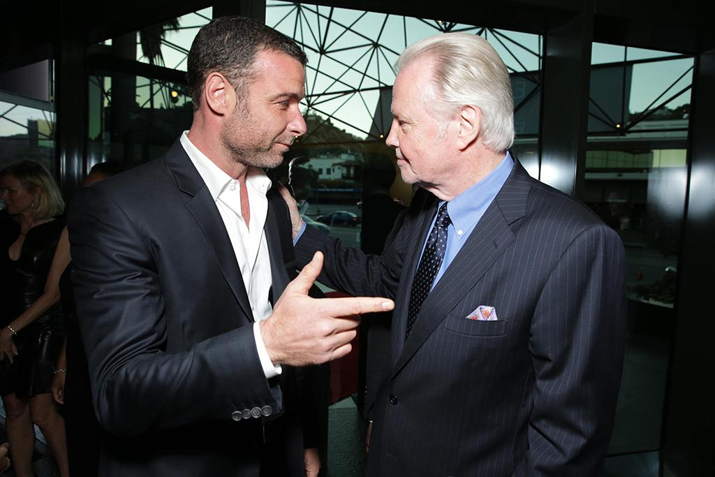 Liev Schreiber and Jon Voight arrive at the Showtime premiere of the new drama series Ray Donovan presented by Time Warner Cable, on Tuesday, June, 25, 2013 in Los Angeles. (Photo by Eric Charbonneau/Invision for Showtime/AP Images)