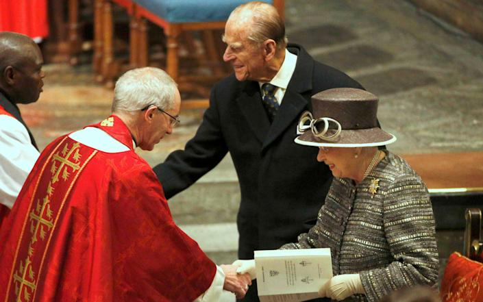 Archbishop Justin Welby with The Queen, alongside the former Archbiship of York, John Sentamu and Prince Philip - Peter Nicholls- WPA Pool Getty Images