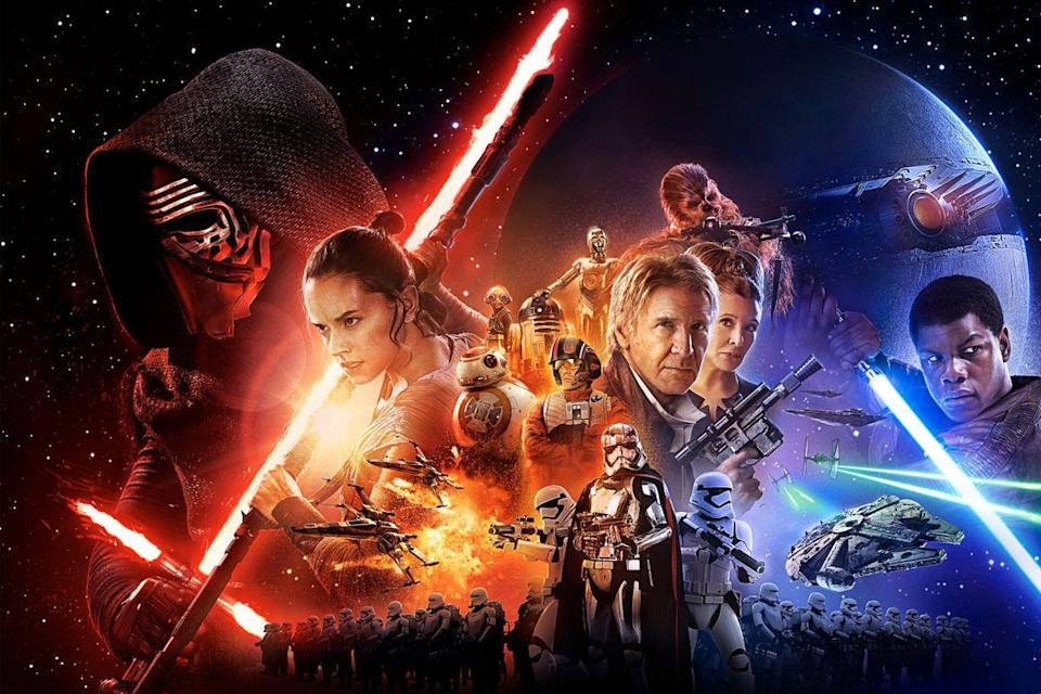 <p> The Force Awakens had a lot riding on it. It needed to kick off the revived franchise and soothe everyone&#x2019;s memories of the prequels. It introduced us to a new trio of heroes: Rey, a scavenger whose mysterious origins are still hotly debated today, Finn, the stormtrooper-turned-rebel hero, and Poe, the hotshot pilot. Their journeys all intersect as the Resistance stands firm against the rising threat of the First Order. The Last Jedi continues the battle against the new enemy and The Rise of Skywalker brings the entire Skywalker saga to an end. </p> <p> As much as director J.J. Abrams may have played it safe by replicating the familiar beats of the original trilogy (yes, there&#x2019;s another Death Star) with The Force Awakens, he also revived many of the elements that were crucial to those movies attaining their classic status. Episode 7 has that same childish sense of excitement that sweeps you up and takes you on a journey across the stars, meeting all kinds of fascinating and bizarre individuals, revisiting old friends, and settling back into the eternal fight of good vs evil.&#xA0;The Last Jedi and The Rise of Skywalker follow and are both divisive for their own reasons. But stick through the trilogy and be rewarded to a grand finale to this astonishing series. </p>