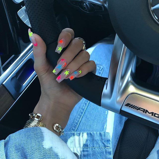 "<p>According to Kawajiri, Jenner's neon nails have been highly-requested this summer. ""Everybody brings up Kylie Jenner's nails all the time,"" Kawajiri says. ""She's one of the trendsetters when it comes shape and color.""</p><p><a href=""https://www.instagram.com/p/BwN5tvCHw2i/"">See the original post on Instagram</a></p>"