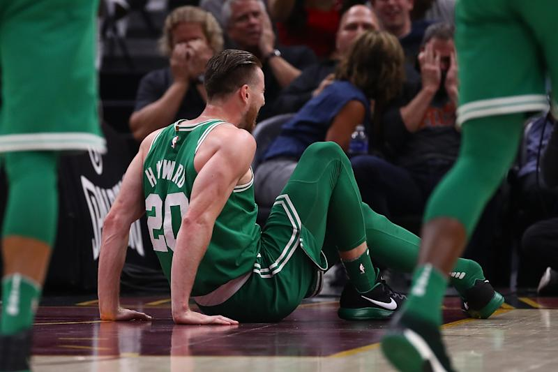 Gordon Hayward left the Celtics' season opener on a stretcher