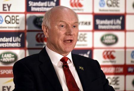 Rugby Union - British & Irish Lions Coaching Team Announcement - Carton House Hotel, Maynooth, Co. Kildare, Ireland - 7/12/16 British & Irish Lions 2017 Tour Manager John Spencer during the announcement Reuters / Clodagh Kilcoyne Livepic