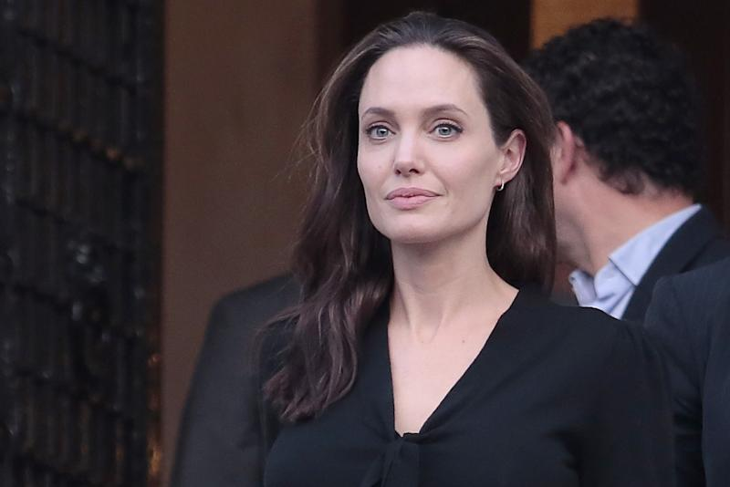 Angelina Jolie Pays an Unusual Visit to Buckingham Palace
