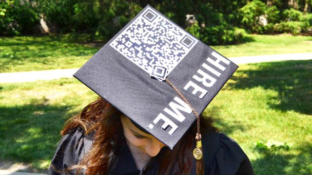 Graduate Turns Cap Into 'Hire Me' Billboard With QR Code