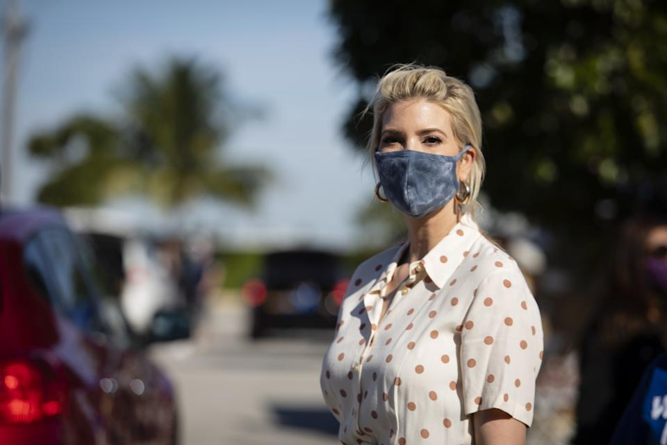 FLORIDA, USA - DECEMBER 22: Ivanka Trump, daughter of U.S. President Donald Trump and White House Senior Advisor, attends a food box distribution at King Jesus Ministry in Miami, Florida, United States on December 22, 2020. (Photo by Eva Marie Uzcategui Trinkl/Anadolu Agency via Getty Images)