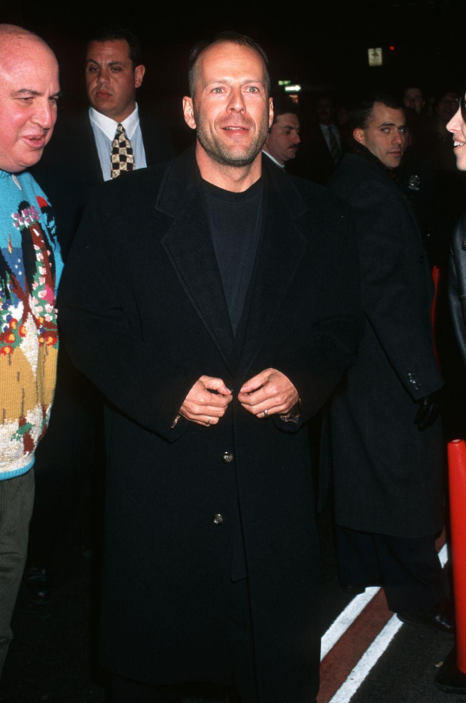 <p>Willis was coming off the success of Pulp Fiction when he turned 40. He was also establishing himself as a restaurant man thanks to his involvement with Planet Hollywood. </p>