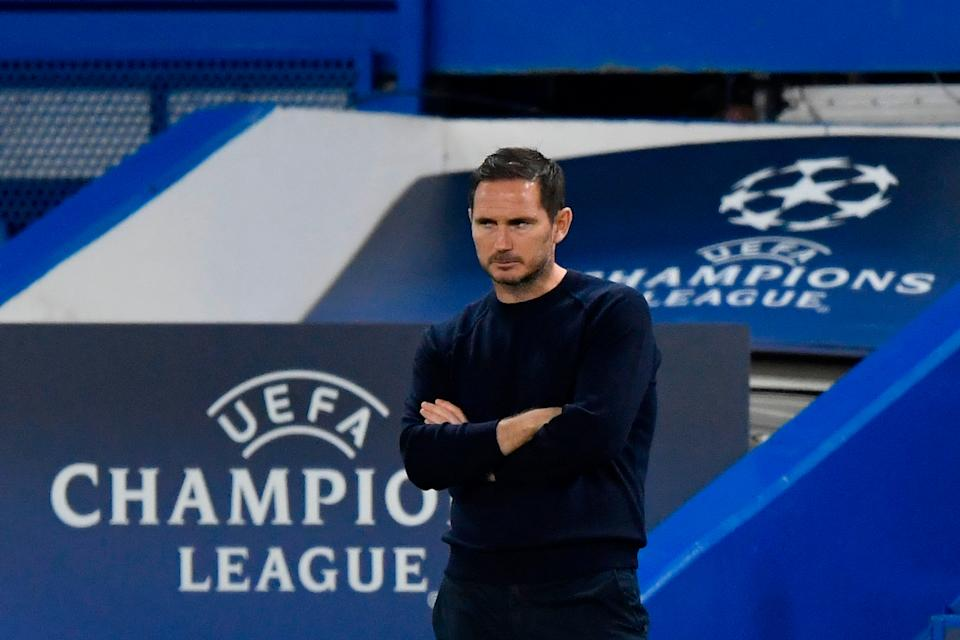 <p>Lampard watches on during the first game with Sevilla</p>Getty