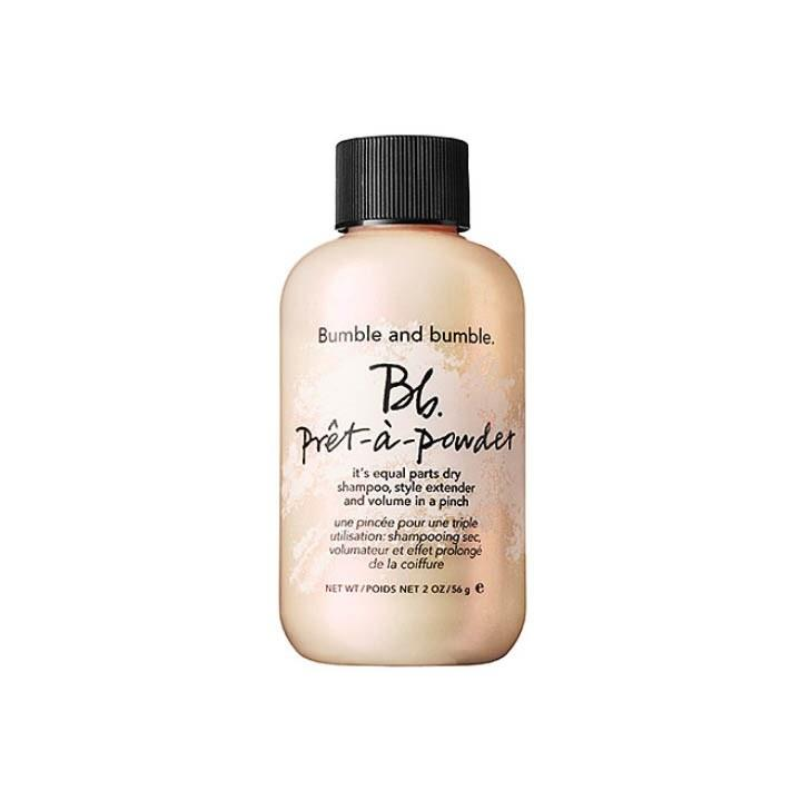 "<p>""After a tough pilates class, I sprinkle a little dry shampoo into my hair and I'm good to go! This one, from Bumble and bumble, adds great texture and volume."" - Sarah Leon, Digital Editorial Director</p><p>Bumble and bumble Prêt-à-powder, $27, <a rel=""nofollow"" href=""https://www.bumbleandbumble.com/product/19049/27810/care/dry-shampoos/prt-powder?mbid=synd_yahoolife"">bumbleandbumble.com</a></p>"