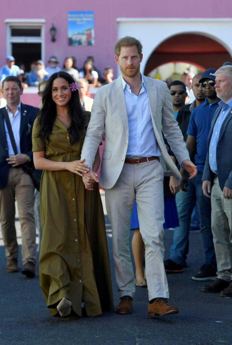 Meghan Markle and Prince Harry in South Africa. (PHOTO: Getty Images)