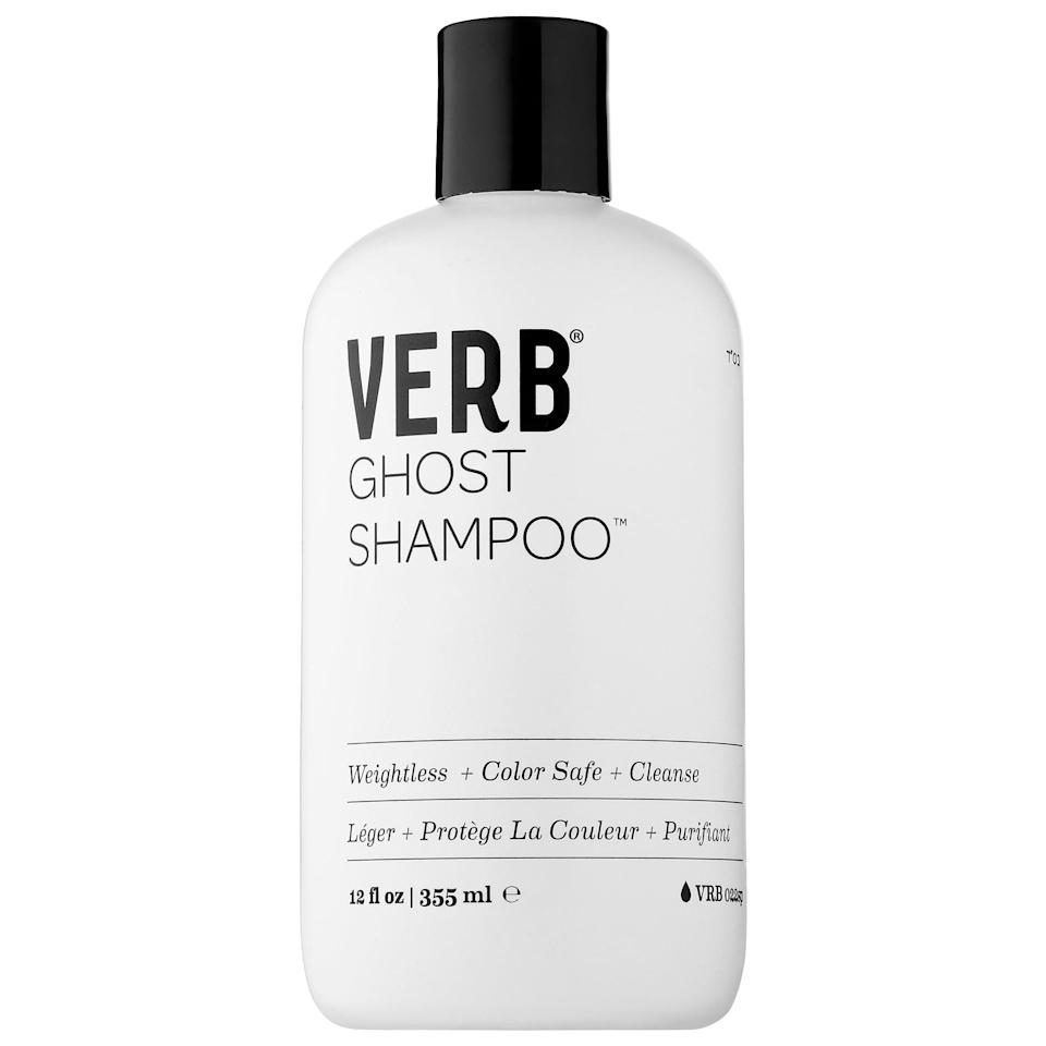 <p>The <span>Verb Ghost Shampoo</span> ($18) is lightweight, so it cleans your hair without weighing it down.</p>