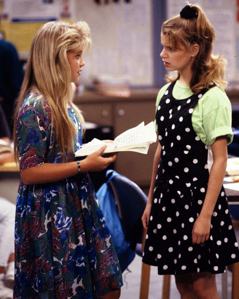 """D.J. Tanner (left) attended the fictional Van Atta Junior High, which was <a href=""""http://www.imdb.com/name/nm0885626/filmoseries#tt0092359"""">named</a> after Don Van Atta. Van Atta served as a producer on the show from 1987 to 1992. In 1993, he got bumped up to co-executive producer and remained in that capacity until the series ended."""