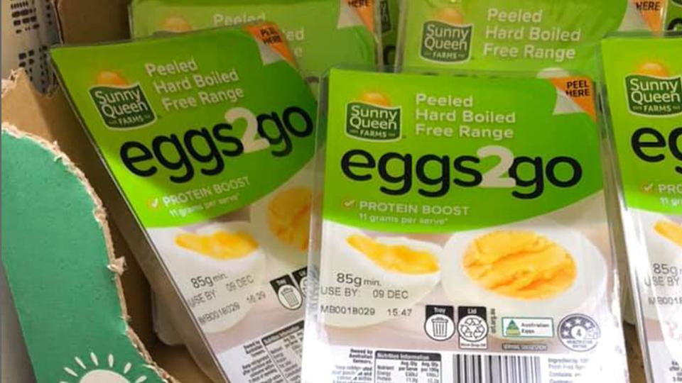 Sunny Queen Farms released a new Peeled Hard Boiled Egg, which caused some divide on Facebook. Source: Facebook
