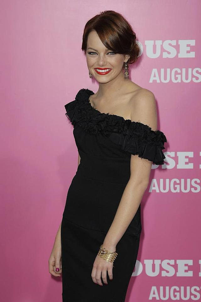 "<a href=""http://movies.yahoo.com/movie/contributor/1809635883"">Emma Stone</a> at the Los Angeles Premiere of <a href=""http://movies.yahoo.com/movie/1809921361/info"">The House Bunny</a> - 08/20/2008"