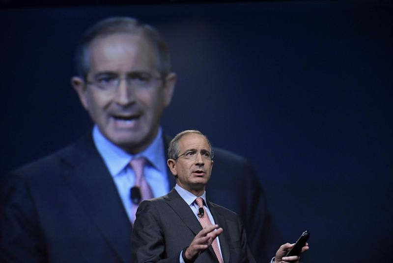 """Comcast Corp. CEO Brian Roberts gestures as he speaks during The Cable Show 2013 convention in Washington, Tuesday, June 11, 2013. TV was supposed to everywhere by now _on your smartphone, on your tablet. Your favorite shows were supposed to be watchable anytime, anywhere. But four years into the industry's effort network executives speaking at an industry conference this week readily admit: TV isn't everywhere. The promise of """"TV Everywhere"""" has been a key strategy in the pay TV industry's fight to retain customers in the face of challenges from online video providers like Netflix. Yet many rights deals still haven't been worked out. Most importantly, audience ratings firms have been slow to encourage advertisers to make the move to mobile.  (AP Photo/Susan Walsh)"""