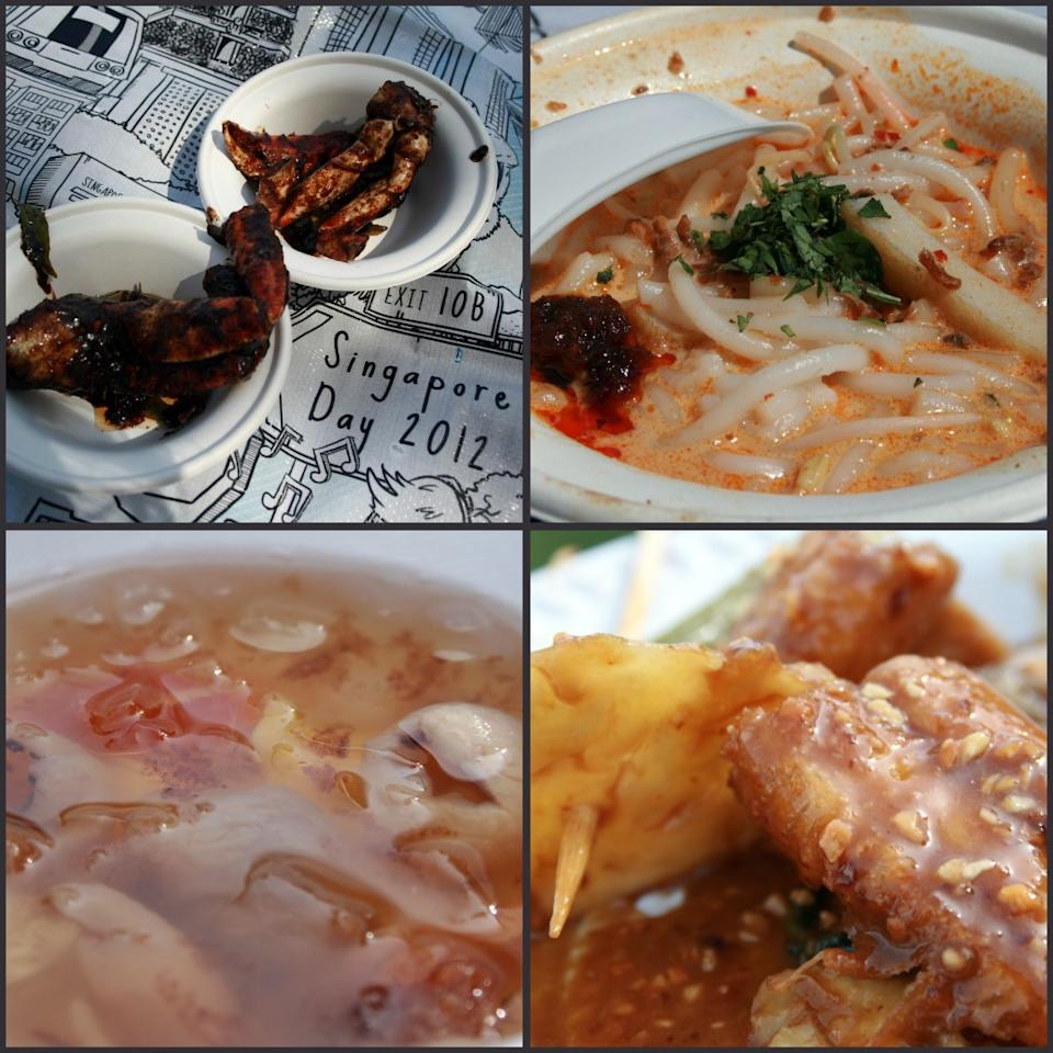 Food served on Singapore Day. (Yahoo! photo/Daphne Seah)