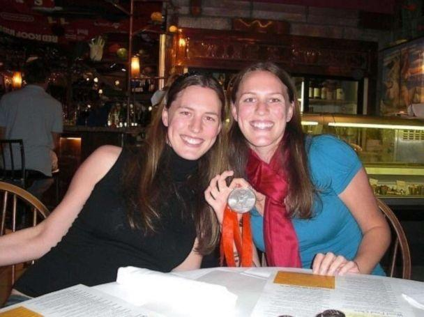 PHOTO: Hanna Thompson, right, pictured with Metta Siebert, won a silver medal in fencing at the 2008 Beijing Olympics. (Metta Siebert)
