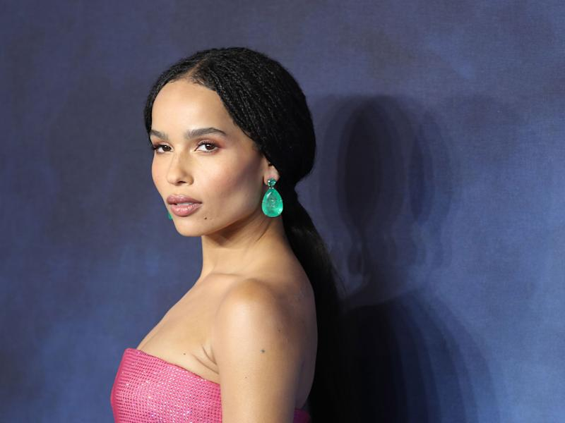 Zoë Kravitz shares first photos of her wedding dress