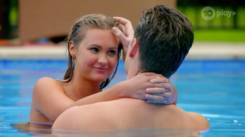 Matt and Chelsie bonded quickly during The Bachelor filming. Photo: Network 10