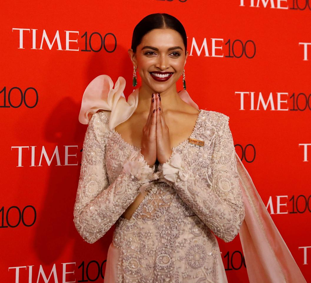 <p>Deepika Padukone dazzled at the Time 100 Gala in NYC. </p>