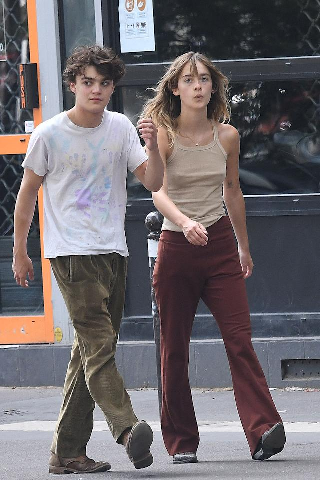 <p>Johnny Depp's rarely-seen 18-year-old son Jack steps out on a romantic stroll with girlfriend Camille Jansen in Paris on Thursday.</p>