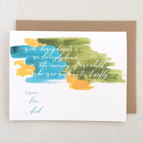 """<p>""""With heavy hearts, we lovingly honor the memory of our child who was with us too briefly.""""<br /></p>"""