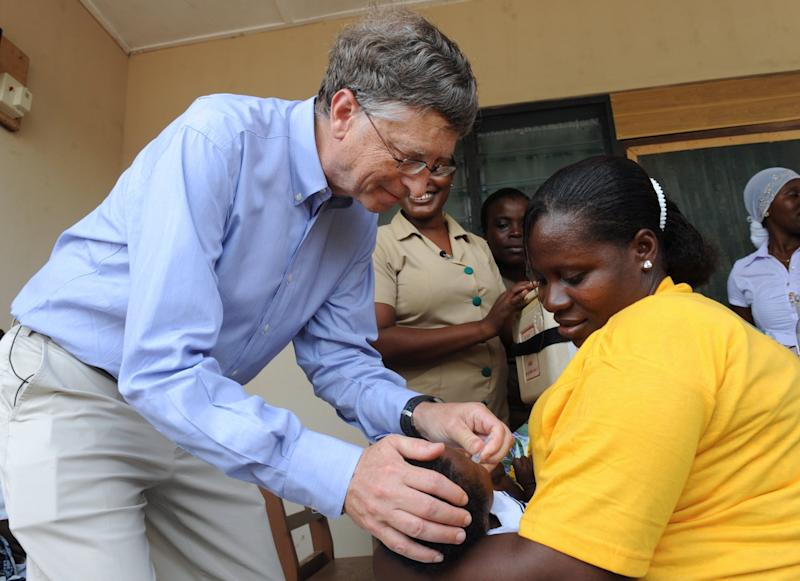Bill Gates has directed billions of dollars into highly effective programmes to fight malaria and tropical diarrhoea, as well as resolving to wipe polio out entirely: AFP/Getty
