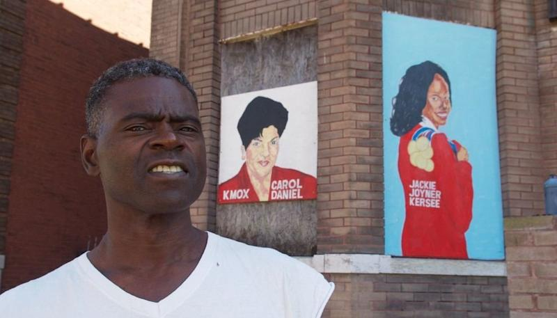 The St. Louis nonprofit Better Family Life commissioned local artist Chris Green to paint murals of prominent African-Americans and post them on blighted buildings.