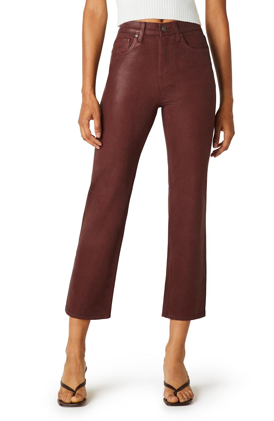 <p>These <span>Hudson Jeans Remi Coated High Waist Crop Straight Leg Jeans</span> ($215) will fit just right.</p>