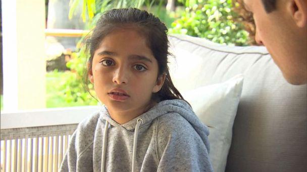 PHOTO: Noya Dahan, 8, speaks to ABC News after she was injured in a shooting at the Chabad of Poway outside of San Diego, Calif., April 28, 2019.  (ABC News)