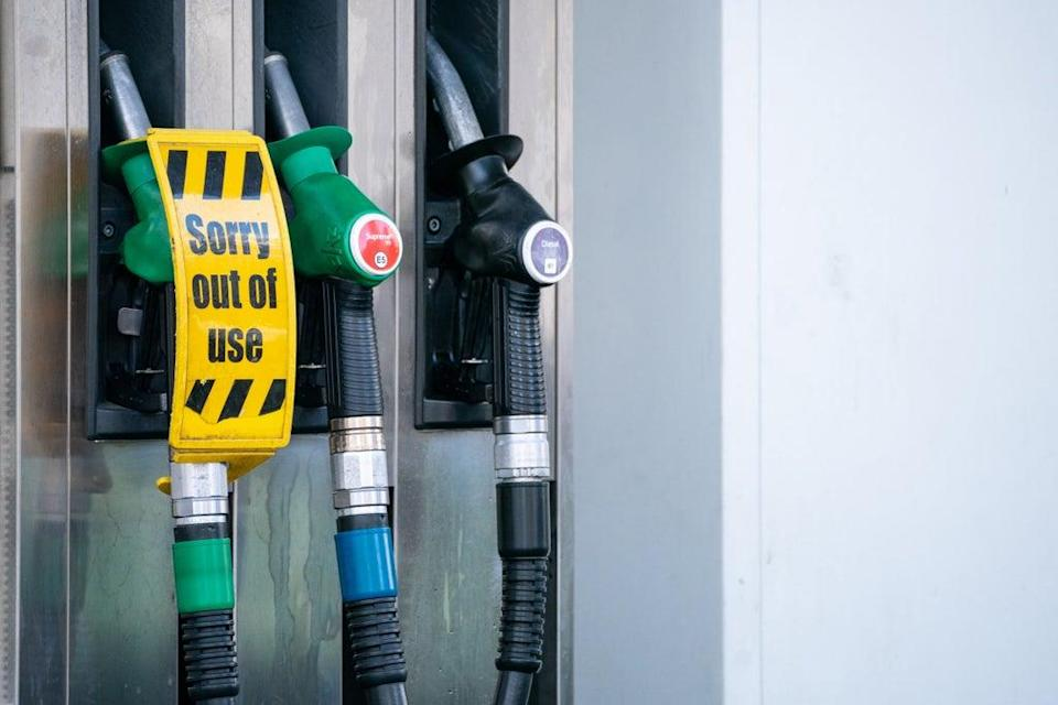 Petrol retailers report that one in four filling stations have run dry (Dominic Lipinski/PA) (PA Wire)