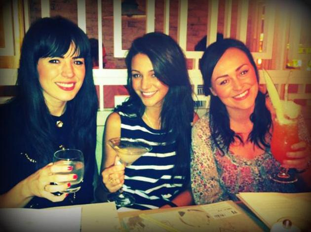 Celebrity photos: Coronation Street's Michelle Keegan enjoyed dinner and cocktails with friends this week. She tweeted this photo but commented that she had a 'pea head'. Hmm, we're not sure we agree with that.