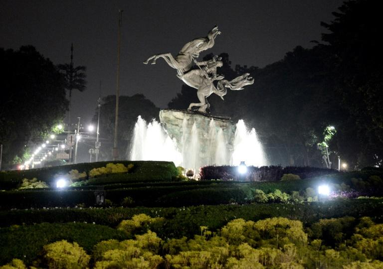 From galloping horses to Indonesia's hero Husni Thamrin and a flame atop a tall tower, statues and monuments across the huge Indonesian capital Jakarta light up at night, adding some sparkle to the city