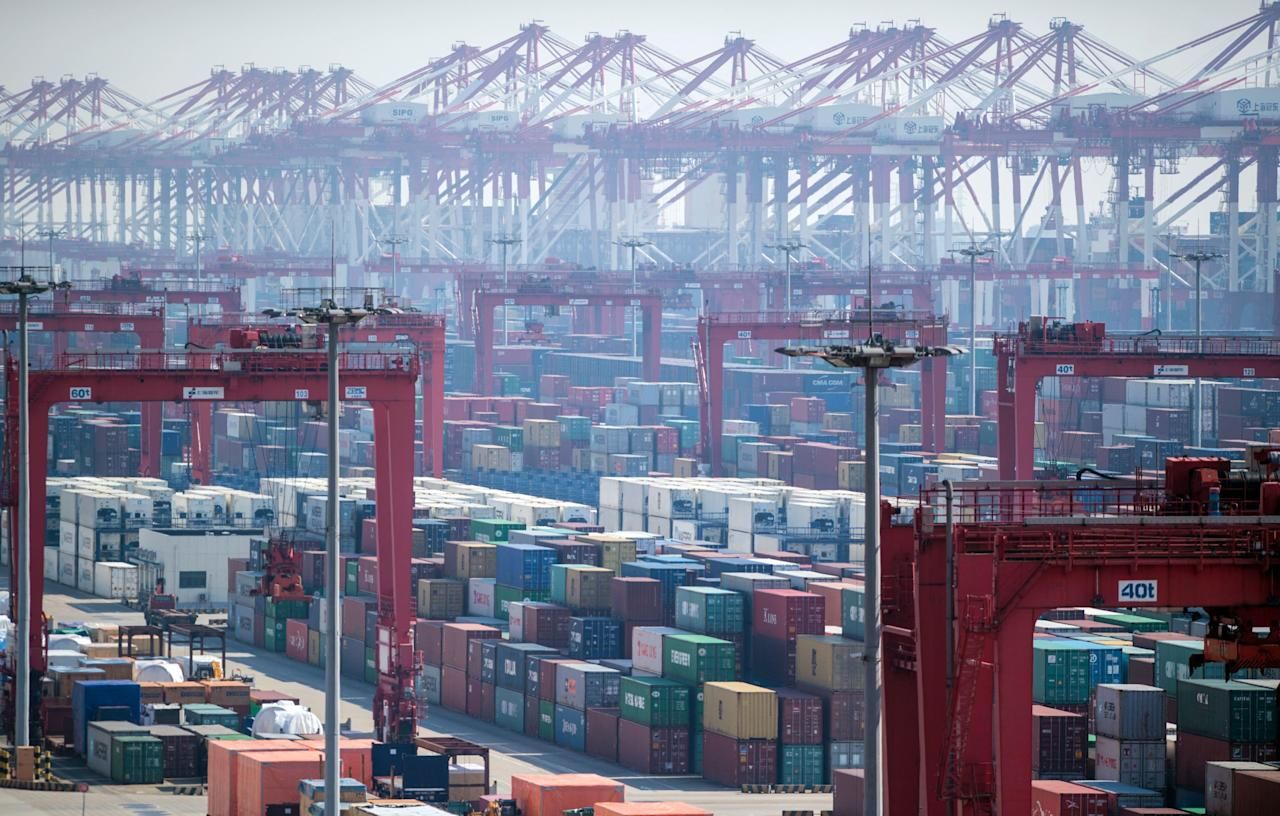 <p>The most recent data available (2015) has the Port of Shanghai pushing 36.5 million TEUs of containers on and off ships annually, a massive amount that tops every port in the world. Located at the mouth of the Yangtze River, the 125 berths can handle more than 2,000 container ships monthly, roughly a quarter of all of China's outgoing shipments.</p><p><span></span></p>
