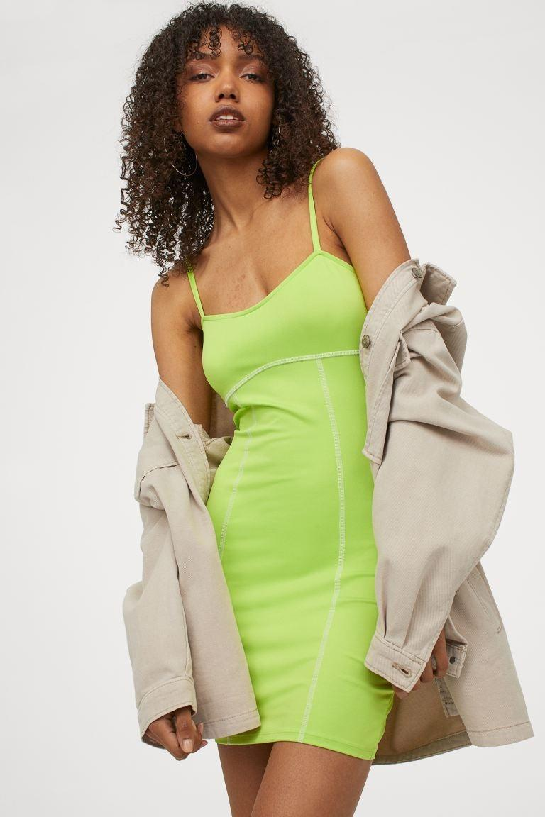 """<br><br><strong>H&M</strong> Bodycon Dress, $, available at <a href=""""https://go.skimresources.com/?id=30283X879131&url=https%3A%2F%2Fwww2.hm.com%2Fen_us%2Fproductpage.0976045002.html"""" rel=""""nofollow noopener"""" target=""""_blank"""" data-ylk=""""slk:H&M"""" class=""""link rapid-noclick-resp"""">H&M</a>"""