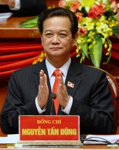 Prime Minister Nguyen Tan Dung attends the 11th national congress of the Vietnam Communist Party (VCP) in Hanoi in January. At least eight political activists have been arrested on subversion charges in Vietnam in a crackdown which began after the prime minister was re-appointed, their legal adviser said