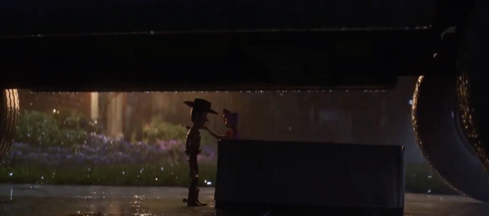 Woody and Bo Peep reunite in the film. (Image: Toy Story 4)